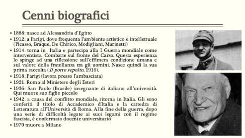 Storia in pillole di Giuseppe Ungaretti